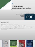 Linguagem Função , disfunção e testes que avaliamEnviar