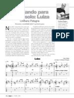 Partitura Luiza - Tom Jobim - arranjo violão solo Cristiano Petagna