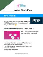 IELTS Speaking Study Plan_1 Month PDF