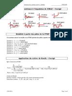 09 TD Corrigé - Evaluation Des Performances Des Systèmes Asservis - Stabilité