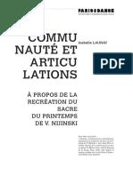 I.Launay Communauté et articulations