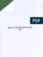 MRCS Corporation Rules 2001