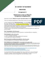 MN3042QA Assignment Brief 3 with grading scheme (3)