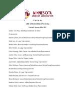 Minnesota Student Association ethical purchasing resolution