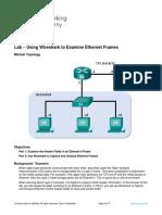 4.4.2.8 Lab - Using Wireshark to Examine Ethernet Frames-NAVAL