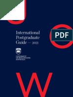University of Wollongong Postgraduate Guide 2021