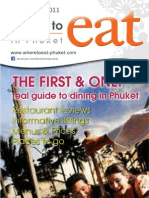 Where to Eat Phuket March - April 2011