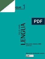 Bachillerato. Lengua. Guía de estudio. Bloque 1 by Marengo R. (Coord.)