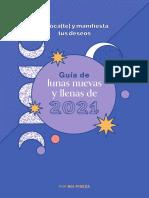 2020 Guia de Lunas Nuevas y Llenas Del 2021 PDF