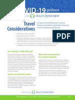CVD19 General Travel Considerations - SCHD