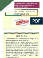 Slide TROIANI Emotrasfusione