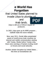March 03, 2011 - The World Has Forgotten That United States Planned To Invade Libya (on track since 2003)