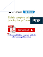 Rsi the Complete Guide by John Hayden PDF Download