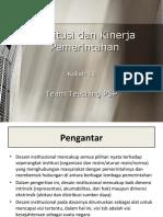 13-Institusi Dan Kinerja Pemerintahan