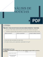 ANÁLISIS DE NOTICIAS