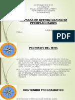 TEMA 3. Metodo de Determinacion de Permeabilidad