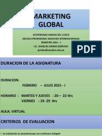 1° UNIDAD SEMANA 1 INTRODUCCION MARKETING  GLOBAL INTRODUCCION  2021 I UAC