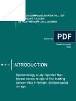 Breast Cancer and Fat Consumption