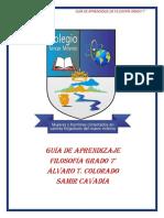 GUÍA DE APRENDIZAJE 7°ANTROPOLOGÍA SÓCRATES..
