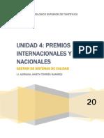 UNIDAD 4.PREMIOS INTERNACIONALES Y NACIONALES