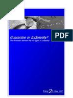 Guarantee or Indemnity