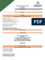 BOLETIM DOMINGO NOITE - 10.01.2021