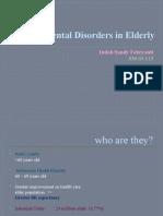 Psychiatry Disorders in Elderly