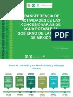 Transferencia de Actividades de Las Concesionarias de Agua Potable Al Gob Cdmx