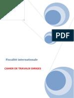 CAHIER DE TRAVAUX DIRIGES fiscalité international