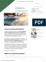 Manual de Procedimientos - Concepto, objetivos y ejemplos