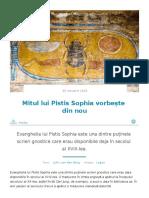 The myth of the Pistis Sophia speaks again