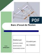 SUJET DE PROJET BANC D'ESSAI DE FLEXION