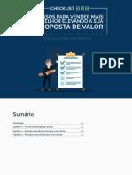 Unknown - Checklist - 3 Passos para Vender Mais e Melhor Elevando a sua Proposta de Valor