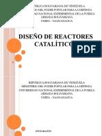 DISEÑO DE REACTORES CATALÍTICOS