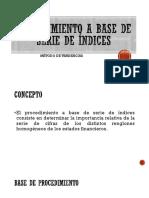 PROCEDIMIENTO A BASE DE SERIE DE ÍNDICES