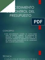 PROCEDIMIENTO DE CONTROL DEL PRESUPUESTO