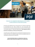 REQUISITOS - CREACIÓN TEATRAL IIS 2020