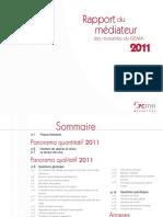 Rapport médiateur assurance