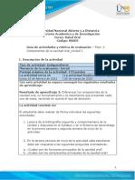 Guía de actividades y rúbrica de evaluación - Unidad 1 - Fase 2 - Análisis