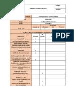 Formato lista de chequeo trabajo personal