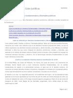 DERECHOS FUNDAMENTALES Y LIBERTADES PÚBLICAS. Concepto, Evolución histórica, Regulación en la CE, Categorias de derechos en la CE.
