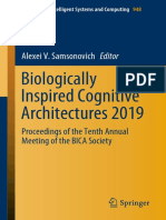 (Advances in Intelligent Systems and Computing 948) Alexei v. Samsonovich - Biologically Inspired Cognitive Architectures 2019_ Proceedings of the Tenth Annual Meeting of the BICA Society-Springer In