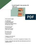 Atividade de português com poema de Vinícius de Moraes2