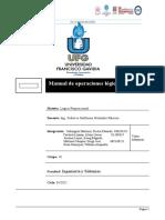 Manual de operaciones logicas de excel Grupo10