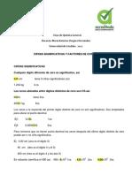 CIFRAS SIGNIFICATIVAS Y FACTORES DE CONVERSIÓN