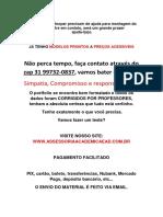 (31)997320837 - 6° e 7° - Serviço Social