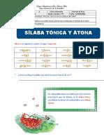 FICHA TRABAJO DE COMUNICACIÓN-SÍLABA T+ONICA Y ÁTONA- 2021
