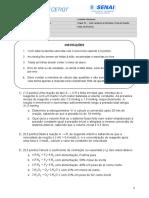 Cinética - Lista Avaliativa Taxas de Reação (1)