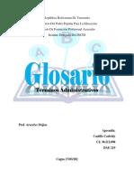 Glosario documentos Administrativos