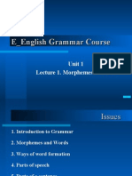 week 1 Elements of grammar